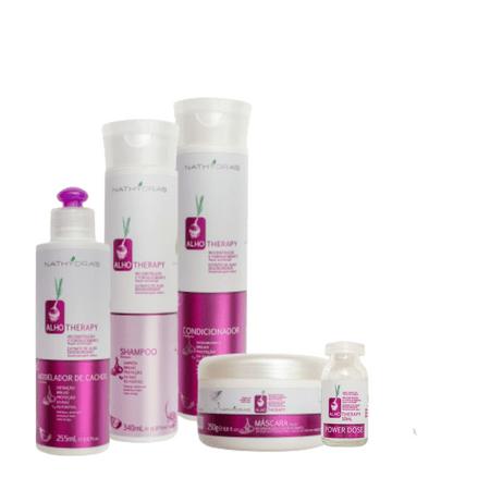 Kit-Nathydra-s-Alho-Therapy-Reconstrucao-e-Fortalecimento-com-4-produtos